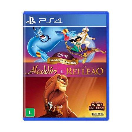 Jogo Aladdin e Rei Leão - PS4