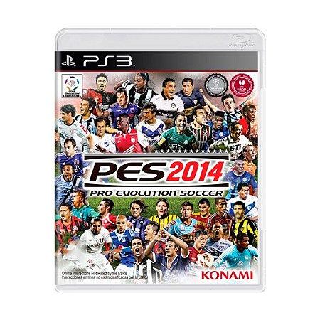 Jogo Pro Evolution Soccer 2014 (PES 2014)  - PS3