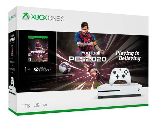 Console Microsoft Xbox One S 1TB Branco (PES 2020)