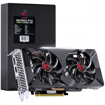 Placa de Vídeo Pcyes Geforce GTX 1660 Dual, 6GB GDDR5, 192Bit