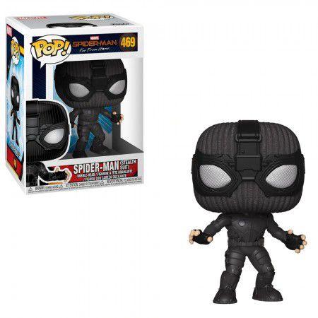 Boneco Funko Pop Spider-Man Far from Home #469 - Spider-Man Stealth Suit