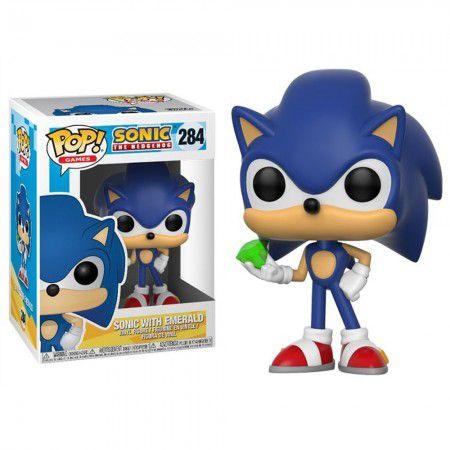 Boneco Funko Sonic the Hedgehog #284 - Sonic with Emerald