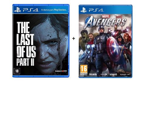 Combo Jogo Marvel Avengers - PS4 + The Last of Us - PS4