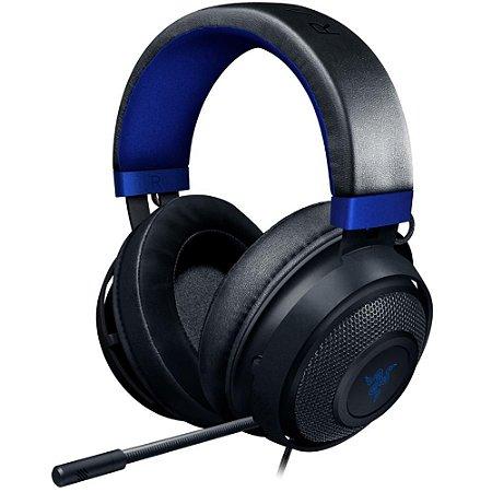 Headset Gamer Razer Kraken - (Drivers 50mm, Console Black/Blue)