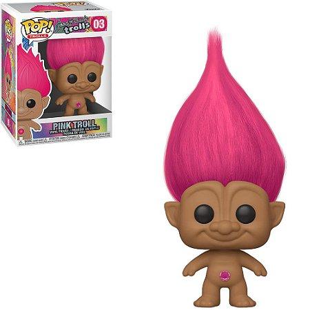 Boneco Funko Pop Good Luck Trolls #03 - Pink Troll