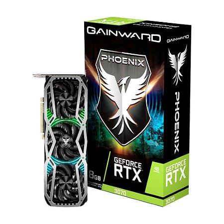 Placa de vídeo Geforce RTX 3070 Gainward Phoenix 8GB GDDR6 256 Bits