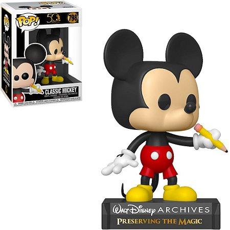 Boneco Funko Pop Disney Archives 50th Anniversary #798 - Classic Mickey