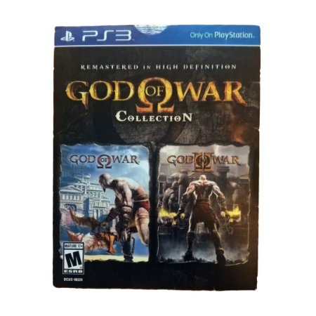 Jogo God of War Remastered Collection - PS3 (Cartela)