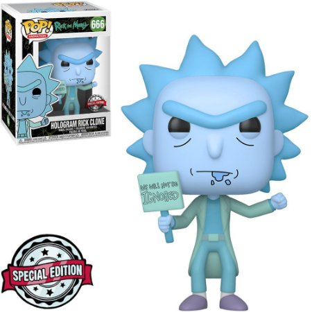 Boneco Funko Hologram Rick Clone #666 - Rick Morty