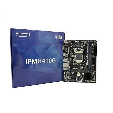 Placa mãe Micro Atx Pcware Intel Ipmh410g - Lga 1200-10ª Geração Vga/hdmi/usb 3.0