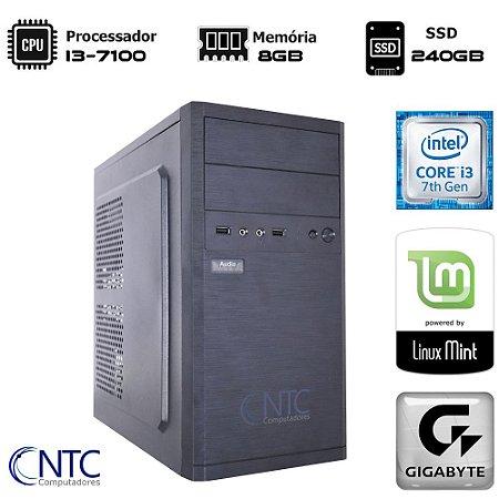 Computador NTC Price Intel Core i3 7100 - 8GB - SSD 240GB - LINUX -  Gigabyte H110M DDR4 - 4146 GA7G