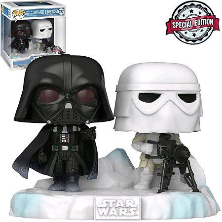 Boneco Funko Pop Darth Vader e Snowtrooper #377 - Star Wars