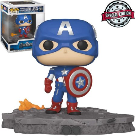 Boneco Funko Pop Avengers Assemble Captain America #589 - Marvel