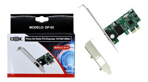 Placa De Rede PCI - Express 10/100/1000m - DEX