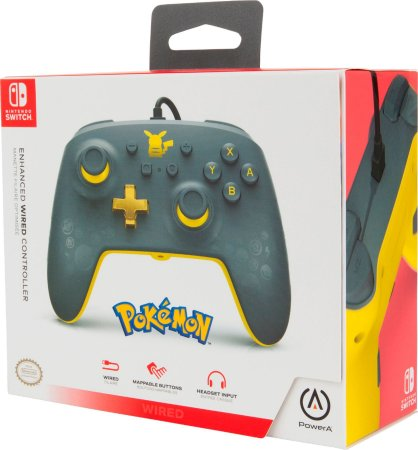 Controle Switch Pokémon Preto com Dourado - Switch