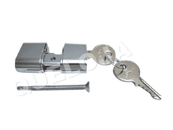 Cilindro Miolo Cromado 52 mm Stam Para Fechadura de Porta de Madeira Entrada Casa Residência
