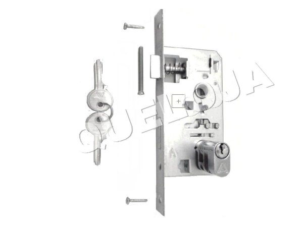 Fechadura Mecanismo 40 mm Externa Aliança de Porta de Madeira Casa Residência
