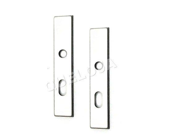 Espelhos Para Fechadura Sem Parafuso Aparente Acabamento Inox Externa 2 Lados da Porta