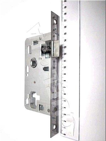 Mecanismo Com trinco Reversível Soprano 40 Mm Sem Cilindro E Chaves Sem Chapa Contra Testa E Sem Maçanetas de Entrada Porta Madeira Casa Residência