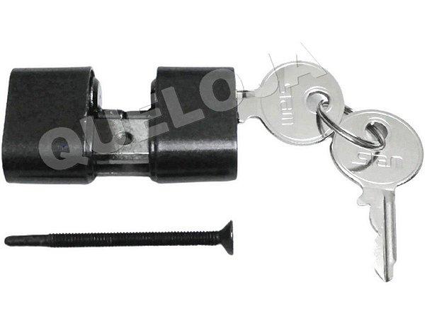 Cilindro Miolo Stam Grafite Preto Fosco 52 mm Para Fechadura de Porta de Madeira Entrada Casa Residência