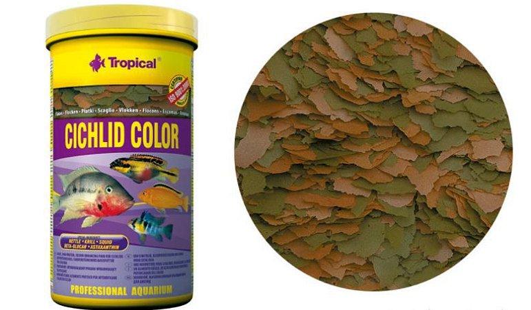 Ração Tropical Cichlid Color Flakes