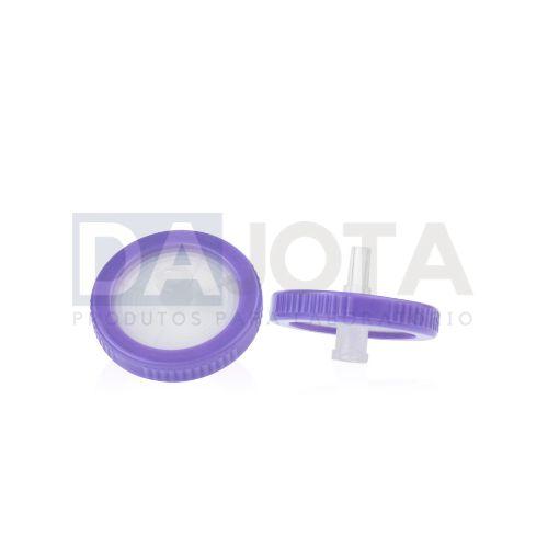 Filtro de Seringa 33mm 0.22um, PVDF Hidrofilico, Emb 100 pcs, Marca Dajota