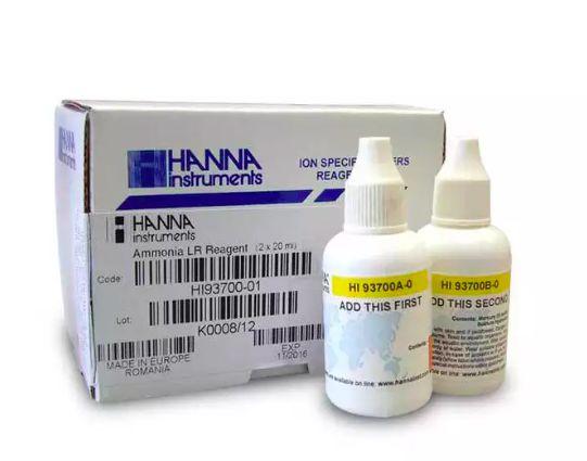 Kit para teste de Amonia em Agua, Colorimetrico para 100 testes marca Hanna Mod 93700-01