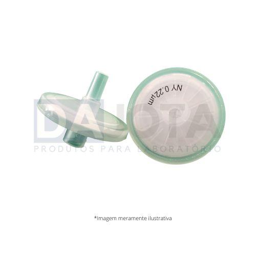 Filtro de Seringa 25mm 0.22um, NYLON, Emb 100 pcs, Marca Dajota