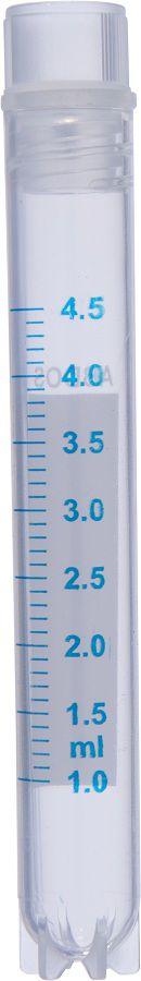 Cryovial rosca interna 4,5ml esteril  livre de Dnase e Rnase abdos P60112 pcte de 250 pcs