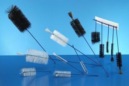 Escovas para limpeza Tubos de ensaio e Provetas  de Nylon e de Crina