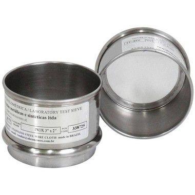 Peneira (Tamis) Granulométrica em Aço Inox 3x2 (Pequena)
