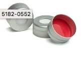 Tampa,Cap, Crimp, Silver Aluminum, Certified, 11 Mm, Ptfe/Silicone Septa, 100/Pk. Cap Size: 11 Mm Agilent 5182-0552