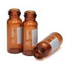 5182-0716  Vial, screw top, amber, write-on spot, certified, 2 mL, 100/pk. Vial size: 12 x 32 mm (12 mm cap)