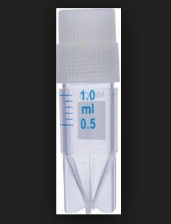 microtubo Cryovial rosca interna de 1ml esteril abdos P60108 livre de Dnase e Rnase pcte 500 pcs