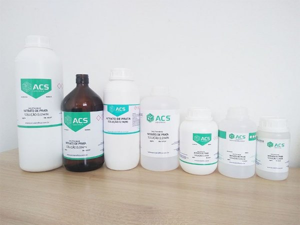 Nitrato De Prata 0,02n/M Fatorada 1l