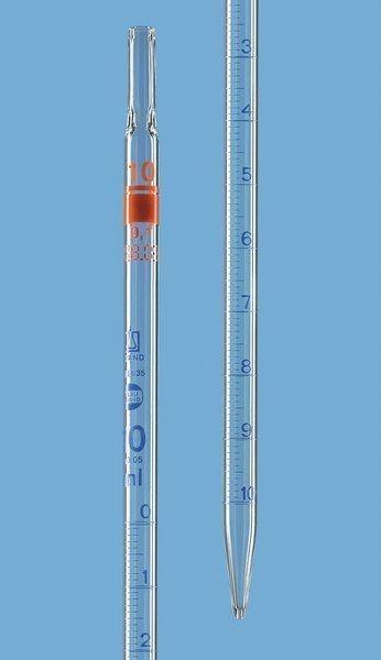 PIPETA SOROLÓGICA BRAND 1,0/0,01ml GRADUADA - REF. 27722 CX. C/ 6 UN.