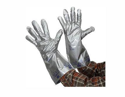 """Luva Para Protecao Contra Risco Quimico Cor Prata - Silver Shield Pacote Com 10 Pares Tamanho """"""""M"""""""""""