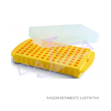 RACK ESTANTE DUPLA FACE PARA 96 MICROTUBOS DE 0,5 ML A 2,0 ML