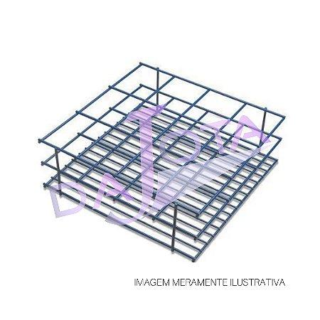 Rack (Suporte) Grade Dupla Com 12 Compartimentos 7,6x6x25,4x9 Cm
