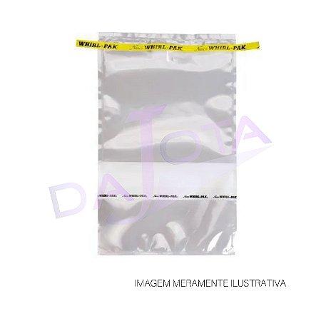 SACO ESTÉRIL COM TARJA IDENTIFICAÇÃO 1627 ML PACOTE COM 500 UNIDADES