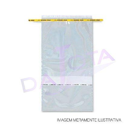 Saco Estéril Com Tarja De Identificação Com Arame 3637 Ml Pacote Com 250 Unidades