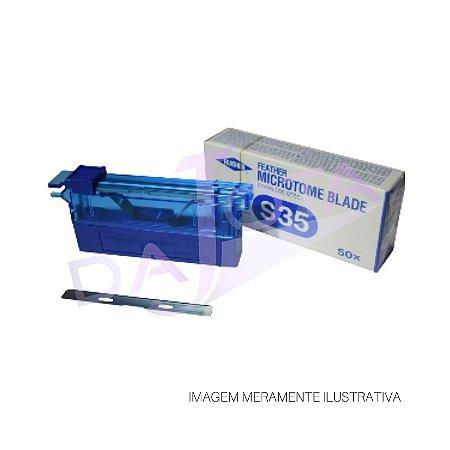 NAVALHA MICRÓTOMO - PERFIL BAIXO S35 PACOTE COM 50 UNIDADES FEATHER