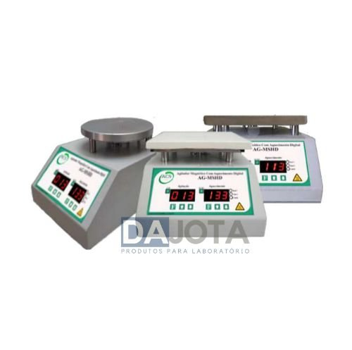 Agitadores Magnéticos Digitais com Aquecimento AG-MSHD