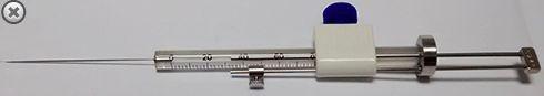 MICROSERINGA (MICROSYRINGE) PARA CROMATOGRAFIA,AGULHA FIXA MOD. MS-G50, 50 MICROLITROS  EXMIRE COM GUIA.