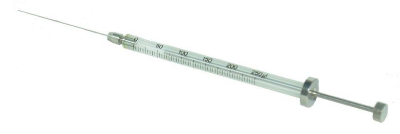 Microseringa (Microsyringe) Para Cromatografia,Agulha Fixa, Mod. Ms-50, 50 Microlitros Exmire Sem Guia.