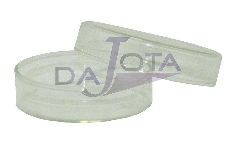Placa Petri em vidro, 60x15mm pacote com 10 unidades marca labware