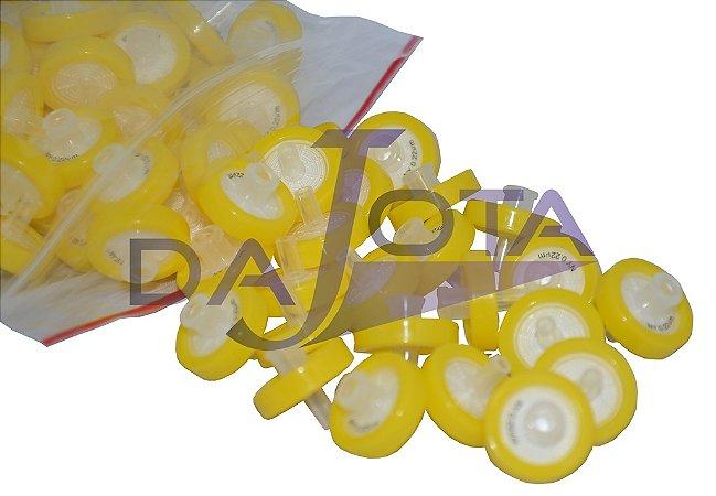 Filtro para seringa 17 mm diam x 0,22 micras de poro em NYLON pcte de 70 pcs marca Jfilter