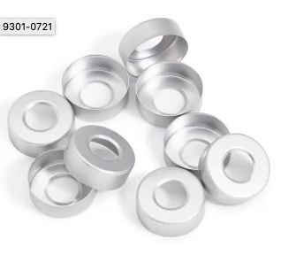 Lacre De Aluminio Para Septo Agilent 9301-0721 (20mm Crimp Cap Headspace) Pk 100