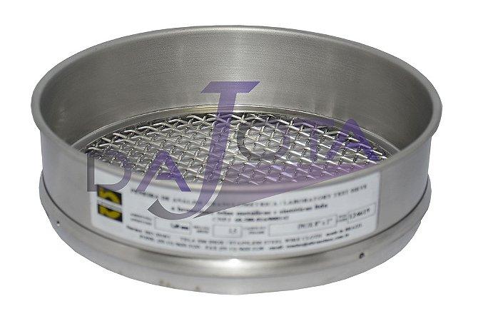 Peneira Para Análise E Controle Granulométrico Aco Inox 8 X 2 Polegadas Abertura 5 Mm Marca Bronzinox