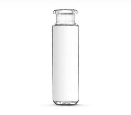 Vial, Vidro Transparente , 20ml (22x75mm), fundo abaolado, tipo Crimp sem tampa  100/Pk.